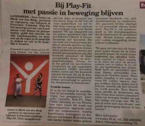 artikel PLAY-FIT