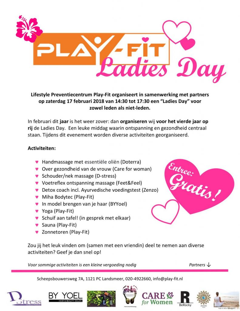 Flyer Play-Fit Ladiesday 2018